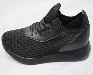 Мъжки Маратонки  текстил  черни NLNY-24074