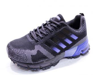 Мъжки маратонки  текстил сини UGHV-26652