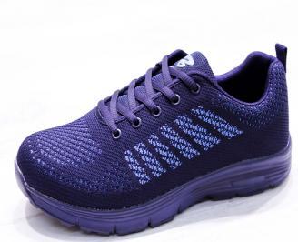 Мъжки маратонки  текстил сини BPPP-26653