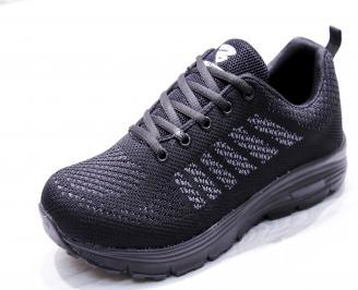 Мъжки маратонки  текстил черни OWFZ-26654