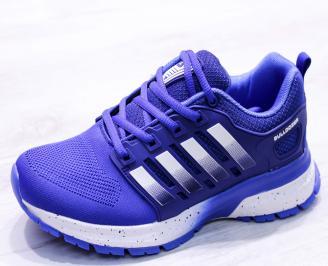 Мъжки маратонки  текстил сини KXCZ-26657