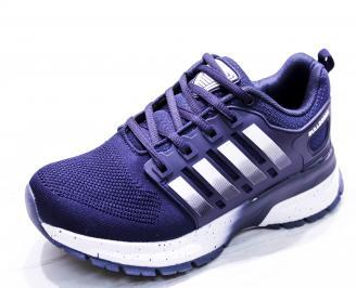 Мъжки маратонки  текстил сини SNET-26658