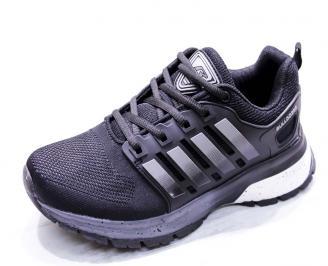 Мъжки маратонки  текстил черни CHOZ-26660