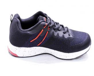 Мъжки маратонки  текстил черни LEHR-26668