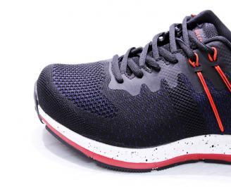 Мъжки маратонки  текстил черни 5