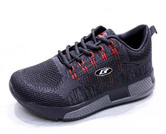 Мъжки маратонки  текстил черни XQEK-26669