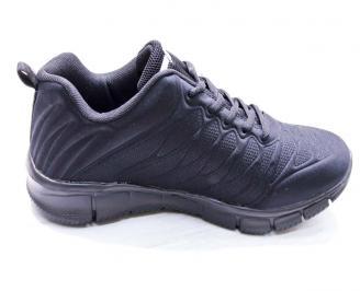 Мъжки маратонки  текстил черни SHIU-26670