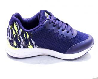 Мъжки маратонки  текстил сини OFCT-26671