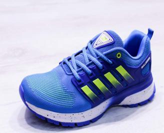 Мъжки маратонки  текстил сини JVDW-26672