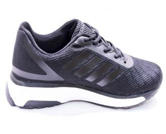 Мъжки маратонки  текстил черни OVIJ-26674