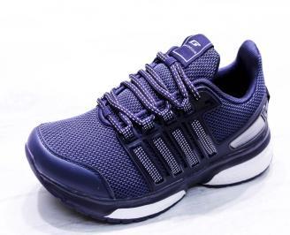 Мъжки маратонки  текстил сини YLDY-26676