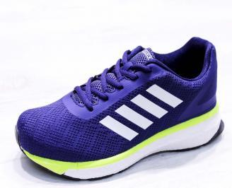 Мъжки маратонки  текстил сини HSEY-26677