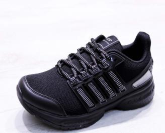 Мъжки маратонки  текстил черни GQFW-26678