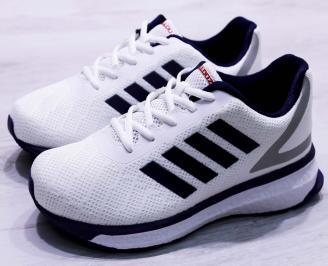 Мъжки маратонки  текстил бели LAMM-26682