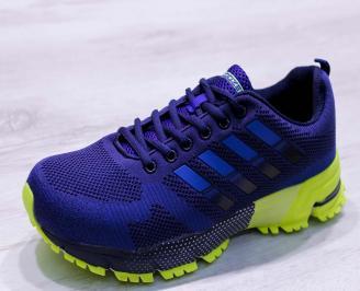 Мъжки маратонки  текстил сини BXYB-26683