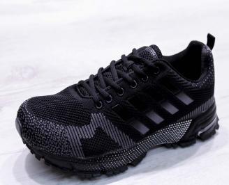 Мъжки маратонки  текстил черни ZGOD-26687
