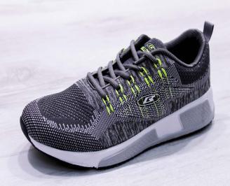 Мъжки маратонки  текстил сиви MEQZ-26688
