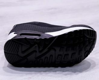 Мъжки маратонки  текстил черни BORG-26691