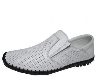 Мъжки обувки бели естествена кожа IMWO-21544