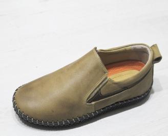 Мъжки обувки бежови естествена кожа CAEU-23499