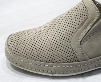 Мъжки обувки бежови естествен набук XYCV-24293