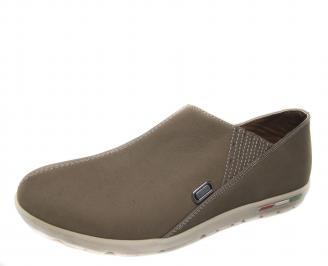 Мъжки обувки бежови естествена кожа RUPU-18863