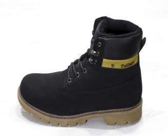 Мъжки  обувки Bulldozer  еко кожа черни WVAL-25080