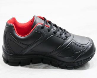Мъжки  обувки Bulldozer  еко кожа черни ZHOP-25081