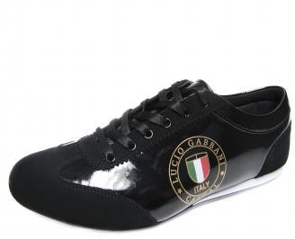 Мъжки обувки черни еко кожа/лак YJWU-18910