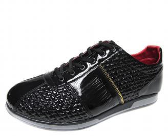 Мъжки обувки черни еко кожа/лак ALFB-18916