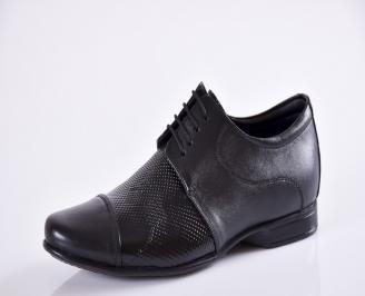 Мъжки обувки черни естествена кожа KQCX-23375