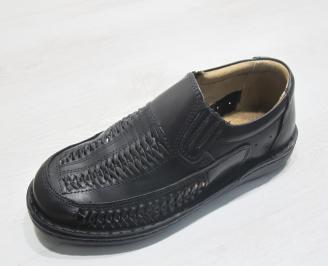 Мъжки обувки черни естествена кожа KDMR-23853