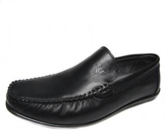 Мъжки обувки черни естествена кожа IOPD-18771