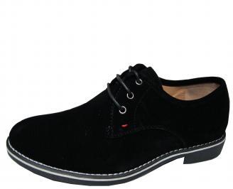 Мъжки обувки черни набук UCKZ-21321