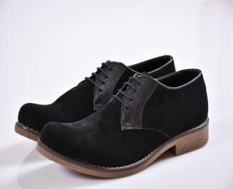 Мъжки обувки черни набук WLRK-22265