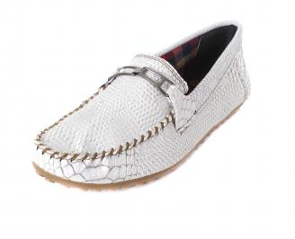 Мъжки обувки еко кожа бели MQGK-17141