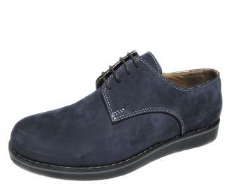 Мъжки обувки естествен набук тъмно сини DPID-21219