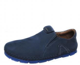 Мъжки обувки естествен набук сини LDUF-21289
