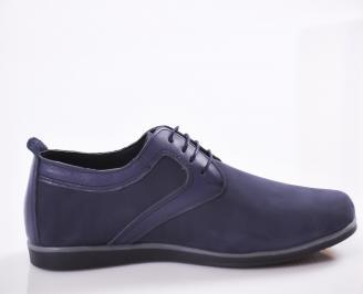 Мъжки обувки естествен набук тъмно сини FRHN-23468