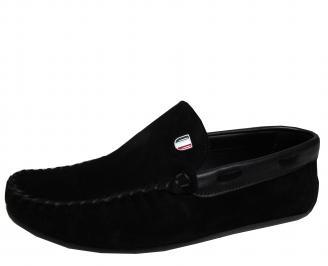 Мъжки обувки естествен велур черни HRSX-16913