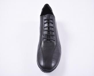 Мъжки обувки естествена кожа черни PKNR-1010994