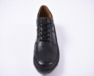 Мъжки  обувки естествена кожа черни EUEF-1012833