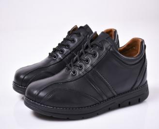 Мъжки  обувки естествена кожа черни PJFY-1012843