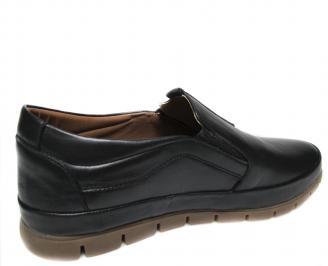 Мъжки обувки естествена кожа черни KBNY-20481