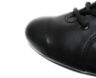 Мъжки обувки естествена кожа черни VHOI-20482