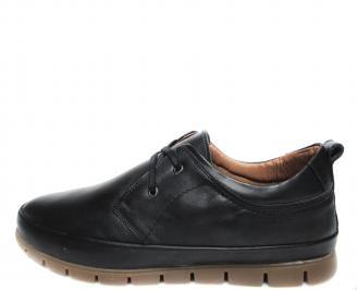 Мъжки обувки естествена кожа черни LAHS-20487