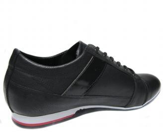 Мъжки обувки естествена кожа черни MAZH-20489