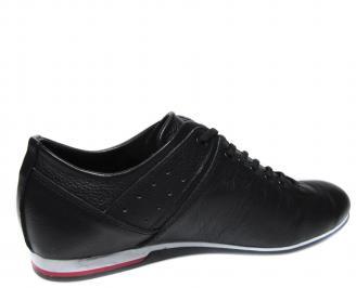 Мъжки обувки естествена кожа черни TLMH-20495