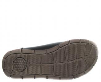 Мъжки обувки естествена кожа черни TJZK-20499