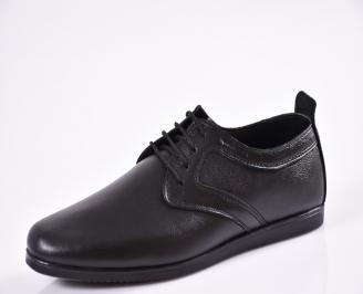 Мъжки обувки естествена кожа черни SZQU-20540